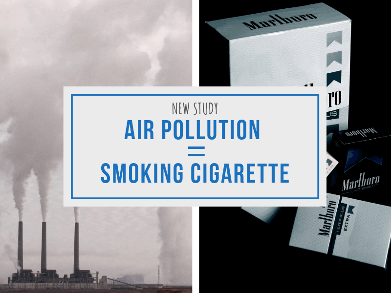 Air Pollution is Equivalent to Cigarette Smoking