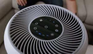 Levoit Core 300 True HEPA Air Purifier touch control panel