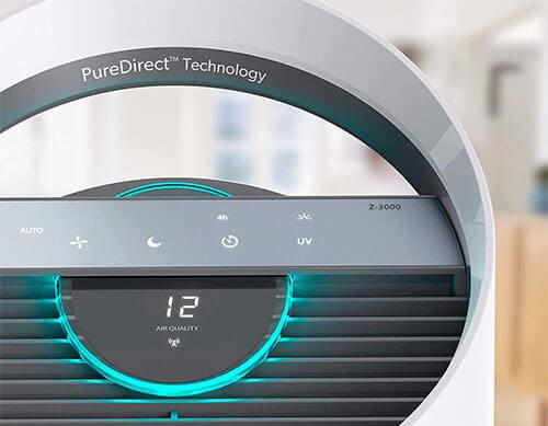 TruSens Z-3000 Air Purifier control panel