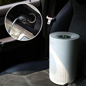 Airthereal ADH80 Air Purifier in car